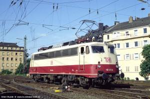 Ullrich Budde; 110 488-4, Koblenz Hbf, 03.08.1995